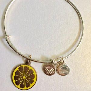 Alex and Ani lemon charm bangle